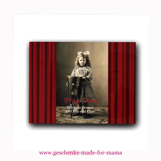 Geschenk- und Erinnerungsbuch Frag' Oma www.geschenke-made-for-mama.de
