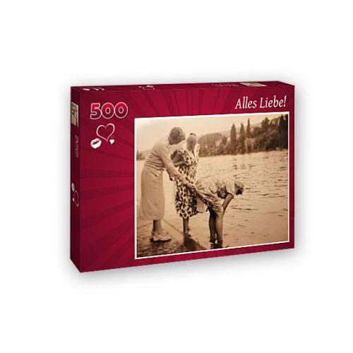 hochwertiges 500-Teile-Puzzle aus eigenem Foto Geschenke made for Mama