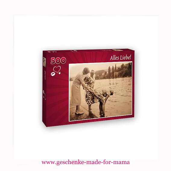 hochwertiges 500-Teile-Puzzle aus eigenem Foto www.geschenke-made-for-mama.de
