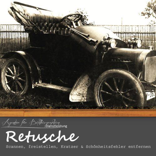 Alte Fotografien scannen freistellen Kratzer und Schönheitsfehler korrigieren Retusche Agentur für Bildbiographien
