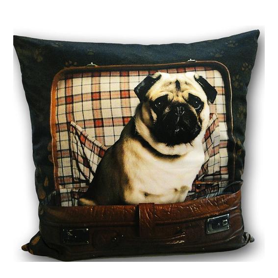 hunde und ihre menschen mops kissen gro shop bildbiographien exklusive geschenke. Black Bedroom Furniture Sets. Home Design Ideas