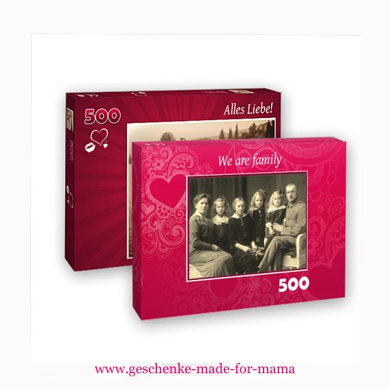 2 hochwertige 500-Teile-Puzzle im Doppelpack www.geschenke-made-for-mama.de