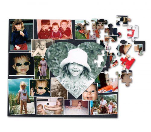 Wir fertigen aus Ihren Lieblingsfotos eine Fotocollage an und lassen sie als hochwertiges 200-Teile-Puzzle drucken