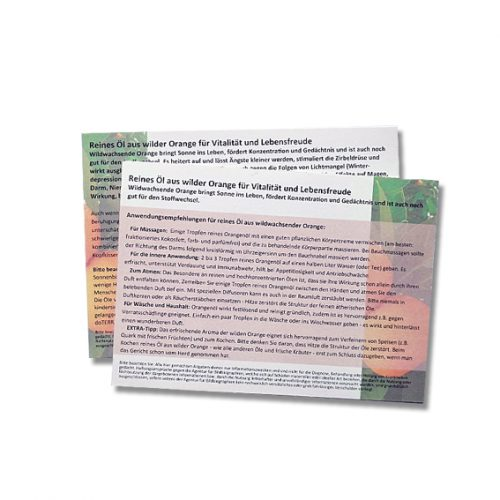 Anwendungsempfehlungen für reines Öl aus wildwachsender Orange