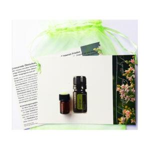 Die Kraft der reinen Öle aus Fichte, Bergamotte, Wacholderbeere, Myrrhe, Lebensbaum, Nootkabaum, Thymian und Zitronella für Ruhe und inneren Frieden