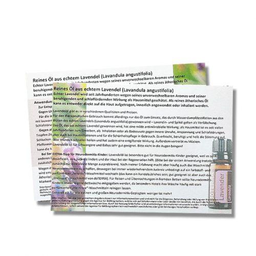 Anwendung Ätherisches Öl aus echtem Lavendel