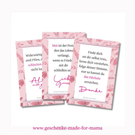 Geschenkanhänger mit Zitaten www.geschenke-made-for-mama.de