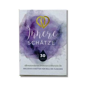 Set aus 30 Affirmationskarten für Emotionen und ätherische Ole