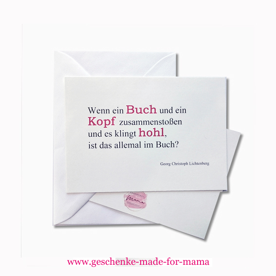Grußkarten Accessoires für Leseratten www.geschenke-made-for-mama.de