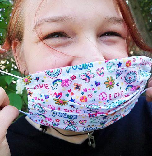 waschbare mund nasen maske peace geschenke made for mama