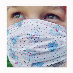 waschbare Mundbedeckung kleine Bärchen für Kinder