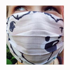 waschbare Mundbedeckung großes Bärchen für Kinder