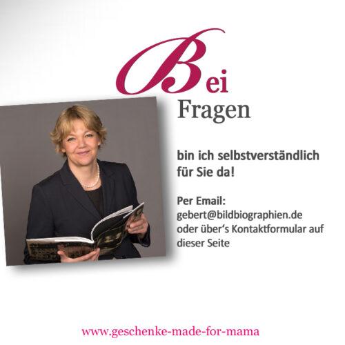 Kontakt Geschenke made for Mama - Susanne Gebert