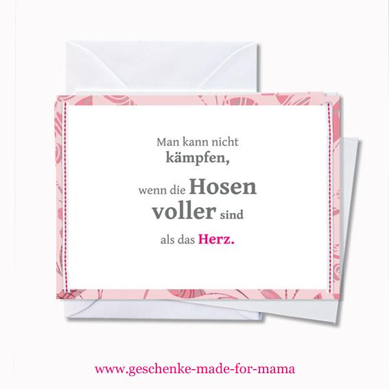 Grußkarte nicht aufgeben www.geschenke-made-for-mama.de